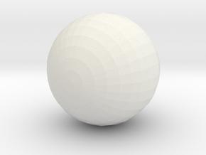Crocodile Ball in White Natural Versatile Plastic
