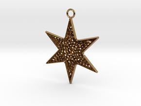 Star Ornament Medium in Natural Brass