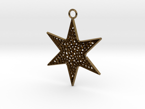 Star Ornament Medium in Natural Bronze