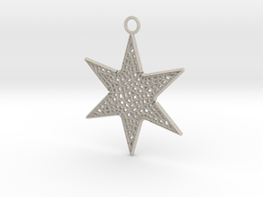Star Ornament Medium in Natural Sandstone