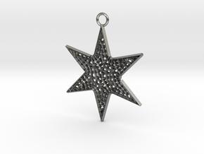 Star Ornament Medium in Natural Silver