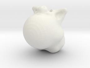 PIGlet in White Natural Versatile Plastic