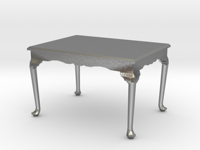 1:48 Queen Anne Dining Table in Natural Silver