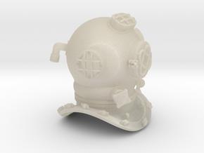 Diving Helmet in White Acrylic