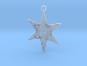 Star Ornament Medium in Smooth Fine Detail Plastic