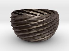 frodo basket in Polished Bronzed Silver Steel