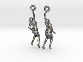 Earrings 'Golden lady' in Premium Silver