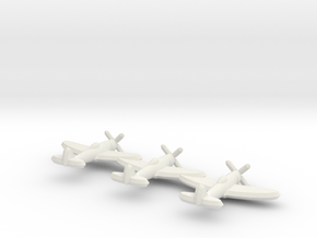 P-47D (Triplet) 1:900 in White Natural Versatile Plastic