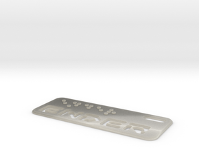 Ender Dogtag Large in White Acrylic