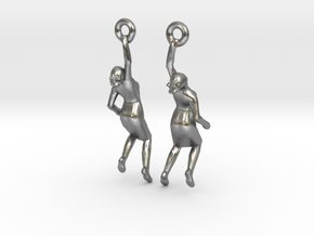 Earrings 'Golden lady' in Natural Silver