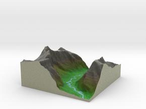 Terrafab generated model Fri Nov 01 2013 15:59:55  in Full Color Sandstone
