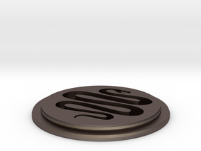 Snake Team Disk in Polished Bronzed Silver Steel