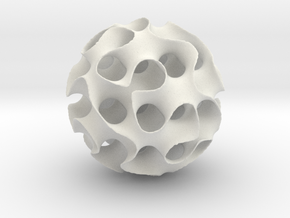 Schwartz 'D' Sphere, 8 cell in White Natural Versatile Plastic