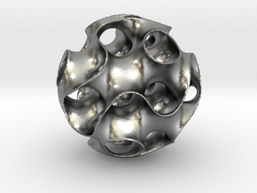 Schwartz D Sphere, small in Natural Silver