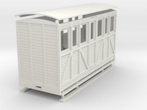 1:32/1:35 workmans saloon coach  in White Natural Versatile Plastic