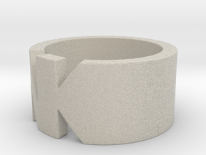 NK- Ring Size 5.5 in Natural Sandstone