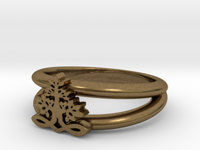 Tree of Life Ring in Natural Bronze