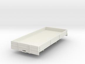 1:32/1:35 medium lowside  wagon in White Natural Versatile Plastic