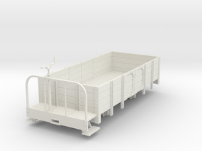 1:32/1:35 open wagon with brake platform in White Natural Versatile Plastic