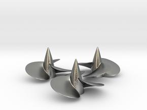 Three ship propellers f. Bismarck/Tirpitz 1/200 V2 in Natural Silver