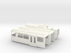 Gehäuse Rheinbahn GT8S in White Strong & Flexible Polished