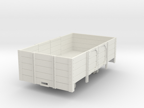 1:32/1:35 short open wagon  in White Natural Versatile Plastic