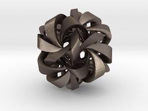 Icosahedron VII, medium in Polished Bronzed Silver Steel
