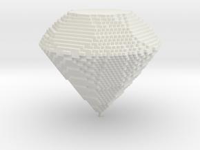 matter-Diamond in White Natural Versatile Plastic