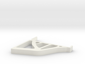 Topopt Shelf Bracket in White Natural Versatile Plastic