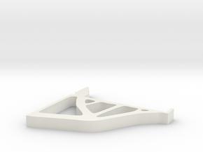 Topopt Shelf Bracket in White Natural Versatile Plastic