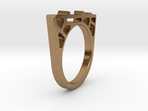 Bridge Ring in Natural Brass
