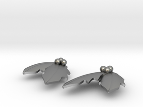 Holly Earrings in Natural Silver