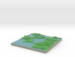 Terrafab generated model Mon Nov 11 2013 13:14:21  in Full Color Sandstone