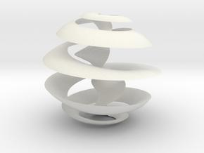 Möbius Christmas Tree Ball in White Natural Versatile Plastic