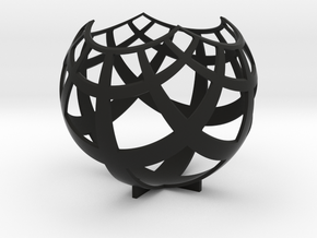Grid (stereographic projection) in Black Natural Versatile Plastic