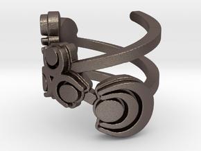 Zelda swird ring (solid back) size 4 in Polished Bronzed Silver Steel