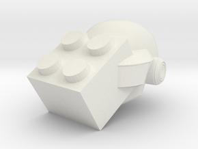 Bangalter Helmet in White Natural Versatile Plastic