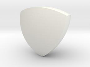 Reuleaux Tetrahedron in White Natural Versatile Plastic
