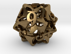 Pinwheel Die12 Ornament in Natural Bronze