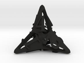 Pinwheel d4 Ornament in Black Natural Versatile Plastic