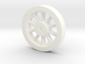 Kozo Hiraoka K-27 Driving Wheel Pattern LIVE STEAM in White Processed Versatile Plastic