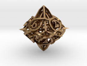Thorn Die10 Ornament in Natural Brass