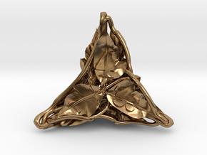Botanical Die4 Ornament in Natural Brass