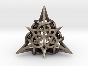 Thorn d4 Ornament in Polished Bronzed Silver Steel