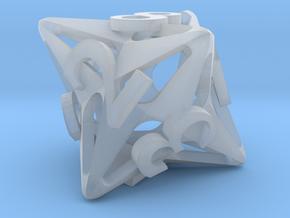 Pinwheel Die8 Ornament in Smooth Fine Detail Plastic