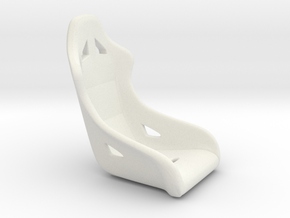 1/16 Scale Modern Racing Seat Single in White Natural Versatile Plastic