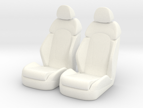 1 12 Luxury Bucket Seat Pair in White Processed Versatile Plastic