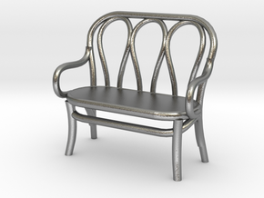 1:48 Bentwood Settee in Natural Silver