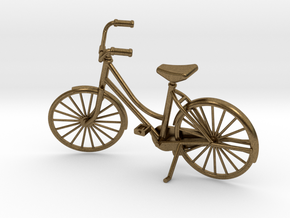 Miniature Vintage Bicycle (1:24) in Natural Bronze