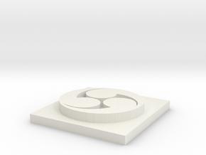 Hidari Symbol in White Natural Versatile Plastic